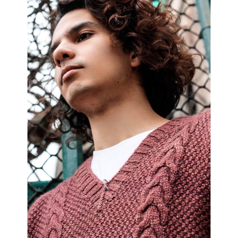 Gray Vest for Men Basic V Neck Sweater Pullover Peruvian Alpaca Wool TINKUY PERU